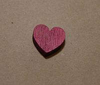 Декоративное сердце, 1,8 см*2 см, цвет малиновый