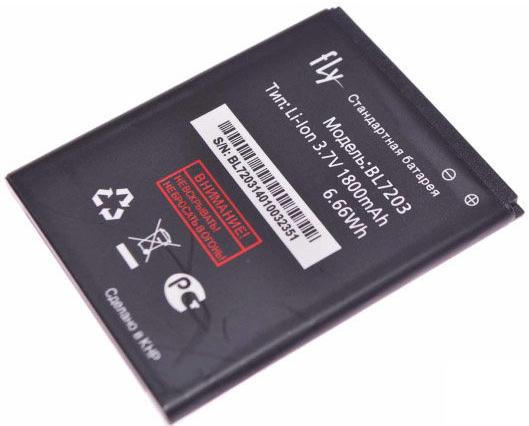 Аккумулятор для Fly BL7203 IQ4405 IQ4413 1800 mah