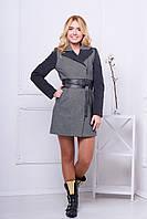 Женское пальто 518 (серый)