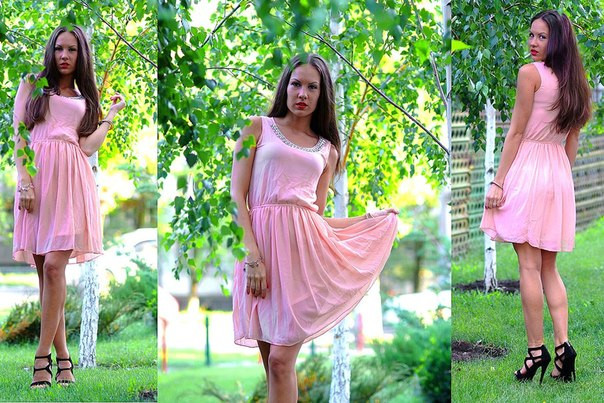 Стильное женское платье клеш