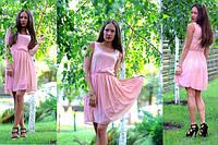 Стильное женское шифоновое платье клеш