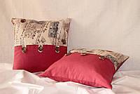 Декоративные наволочки для подушек Letter розовые, 2 шт, 45х45 см Авторский дизайн