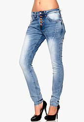 Джинсы светлые женские Button Saggy jeans от Rut & Circle в размере S