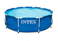 Бассейн для дачи Интекс 28200, стальной каркас, ПВХ, объем 4485л, 305х76см, клапаны для слива, фильтров