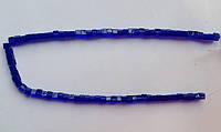 Бусина Куб цвет синий кобальт 4*4 мм