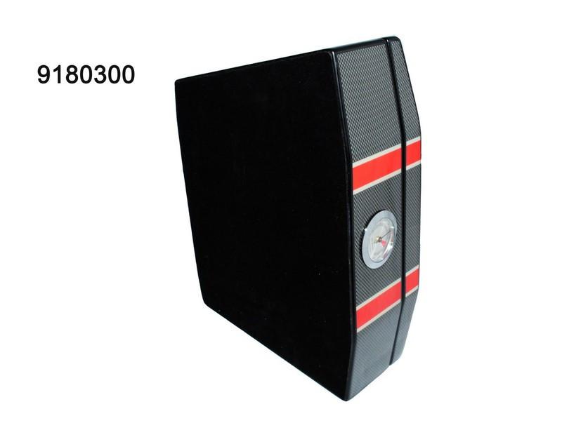 Хьюмидор 918030 для 25 сигар Lamborgini Misano, черный/карбон, кедр/шпон,31х21х8, фото 1