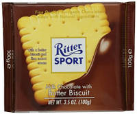 Шоколад Ritter Sport Bitter Biscuits (Риттер Спорт с печеньем), 100 г