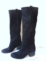 Элитные женские сапоги наборной каблук