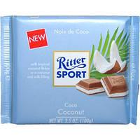 Шоколад Ritter Sport Coconut (Риттер спорт с кокосом), 100 г, фото 1