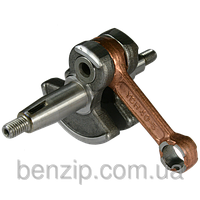 Ведущий вал 28 мм (жесткий привод) на 7 шлицов для мотокосы в сборе