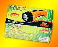 GD - Светодиодный аккумуляторный фонарь, 4 светодиода, 10 часов непрерывной работы, GD-610LX