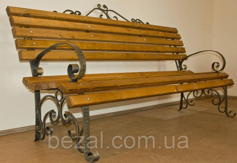 Кованая лавка садовая Людмила  1,5м - ТМ BEZAL (ТМ Безал) в Запорожье