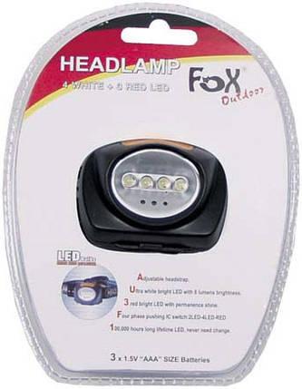 Светодиодный налобный фонарь Fox Outdoor Headlamp 26405, фото 2