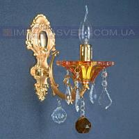 Хрустальное  бра, светильник настенный IMPERIA одноламповое LUX-434001