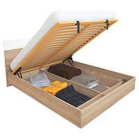 Кровать с подъемным механизмом Sonata / Соната MiroMark 180х200 дуб сонома/белый глянец