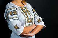 """Блуза-вышиванка женская """"Американка"""", рукав 3/4, домот. полотно, 42-54 р-ры, 470\420 (цена за 1 шт.+ 50 гр.)"""