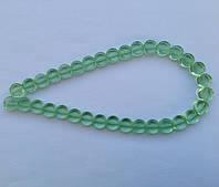 Бусина Таблетка цвет св. зеленый 10 мм