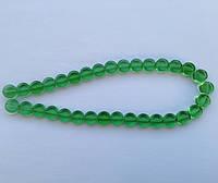 Бусина Таблетка цвет зеленый 10 мм