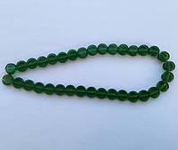 Бусина Таблетка цвет зеленый темный 10 мм