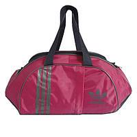 Спортивная сумка маленькая, розово-серая (45х25х18 см), фото 1