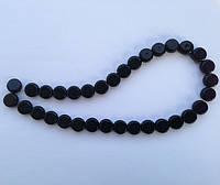 Бусина Таблетка цвет черный 10 мм