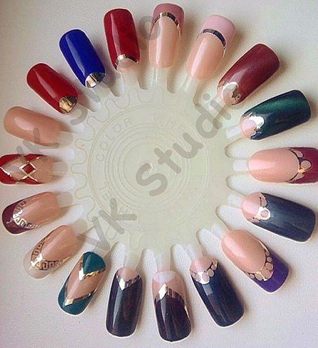 Наклейки для дизайн ногтей фото