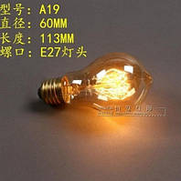 Лампочка накаливания a19 Лампа Эдисона Е27 DIY винтажная ретролампа