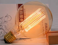 Лампочка накаливания g95 Лампа Эдисона Е27 DIY loft ретро лампа винтаж