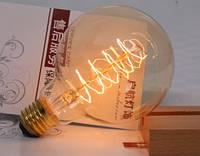 Лампочка накаливания g95-2 Лампа Эдисона Е27 40w   DIY. Декоративный свет вольфрам.