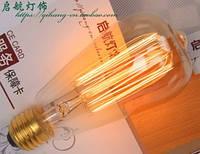 Лампочка накаливания st64 Лампа Эдисона Е27 40w DIY loft ретро лампа винтаж