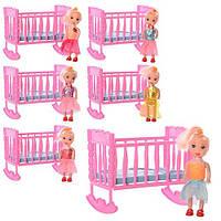 Кукла A010 с кроваткой