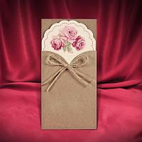 Крафт- пригласительные, оригинальные приглашения на свадьбу