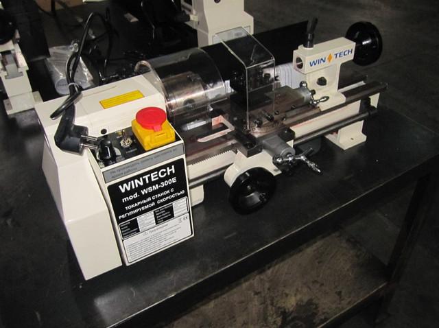 Токарный станок настольный | мини токарный станок по металлу WSM-300E пр-ва Wintech