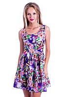Шёлковое нежное платье с орнаментом. Арт-5473/43