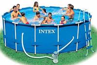 Каркасный бассейн Интекс 28218, для всей семьи, размеры 366*99см, 8503л, насос, лестница