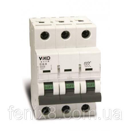 Автоматичний вимикач VIKO 3C 25A трьохполюсний