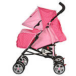 Детская коляска M 2103-2 розовая