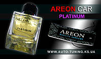 AREON CAR - Спрей, освежитель воздуха + карточка Car Perfume, PLATINUM, MCP-06, 50 ml
