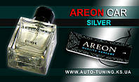AREON CAR - Спрей, освежитель воздуха + карточка Car Perfume, SILVER, MCP-05, 50 ml