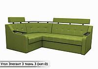 """Угловой диван """" Элегант 3 люкс """" «Savana Olive 18″ (Угол взаимозаменяемый)"""