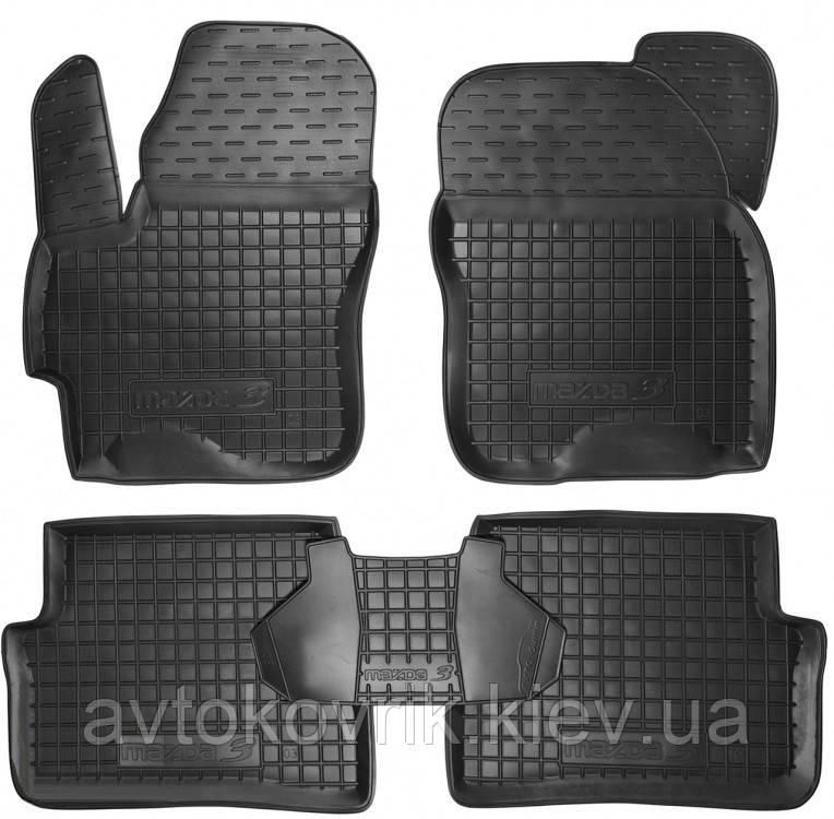 Полиуретановые коврики в салон Mazda 3 (BK) 2003-2008 (AVTO-GUMM)