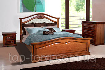Кровать Маргарита, 1600х2000мм с ламелями, орех, деревянная