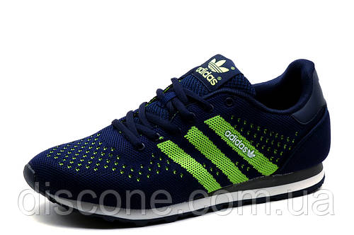 Кроссовки Adidas, мужские, текстиль, темно-синие