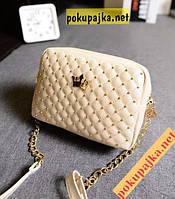 """Шикарная модная  женская  сумка - клатч """"Сrown"""" цвет бежевый, ,  В наличии!, фото 1"""