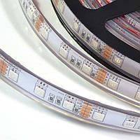 Светодиодная лента влагозащищенная,IP-44 силикон, моно цветная - Красный. Желтый. Синий. Зеленый - на выбор