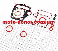 """Прокладки поршневой к-кт для мопеда 110cc  Active """"красная нить"""""""