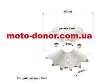 Звезда передняя 428H 16 зуб для мопеда DELTA