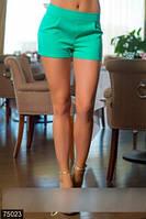Лаконичные короткие женские шорты со средней посадкой костюмный стрейч