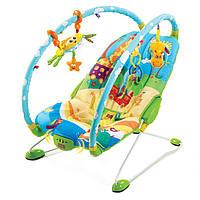 Массажное кресло шезлонг детское  Жители Саванны Tiny Love