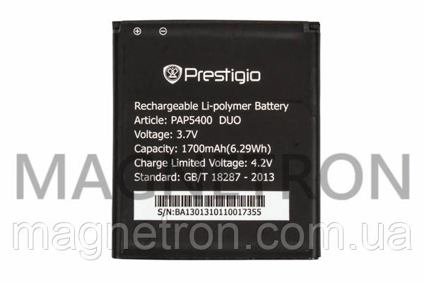 Аккумуляторная батарея PAP5400 Li-ion к мобильному телефону Prestigio 1700mAh, фото 2
